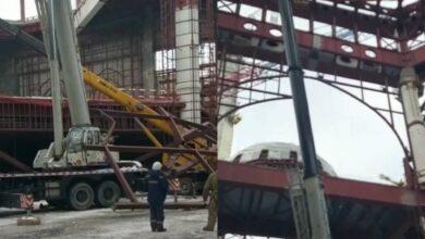 Photo of Нұр-Сұлтанда салынып жатқан мешіттің металл конструкциясы құлады (видео)