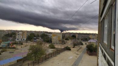 Photo of Небо Актау заволокло густым черным дымом